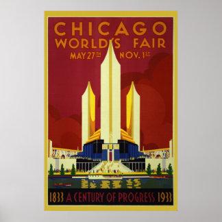 1933 poster de la feria de mundo 36 x 24