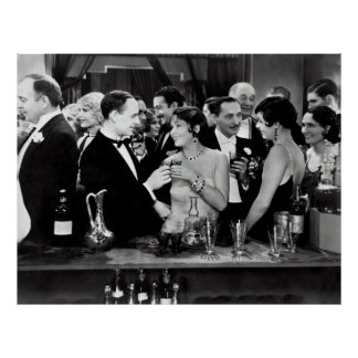 1933 PROHIBITION ENDS HIGH SOCIETY COCKTAIL PARTY POSTER