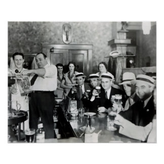 1933 PROHIBITION ENDS - TAPS FLOWING - CHEERS! POSTER