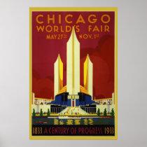 1933 World's Fair 36 x 24 Poster