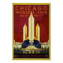 1933 World's Fair 36 x 24 Poster