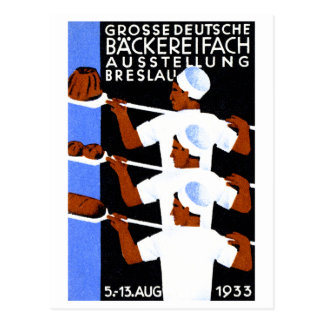 1933 Wroclaw / Breslau Expo Poster Post Card