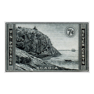 1934 Acadia National Park Poster
