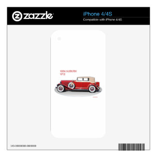 1934 AUBURN 2 SKINS FOR THE iPhone 4S