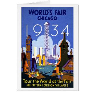 1934 Chicago World Fair Card
