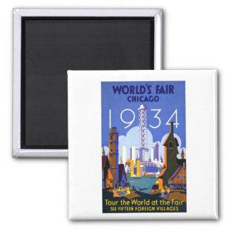 1934 Chicago World Fair Magnet