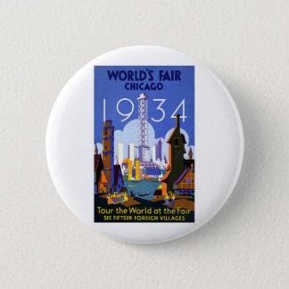 1934 Chicago World Fair Pinback Button