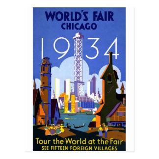 1934 Chicago World s Fair Post Card