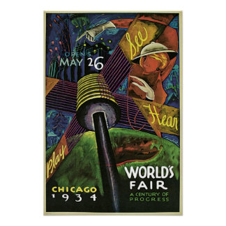 1934 Chicago World s Fair Vintage Poster