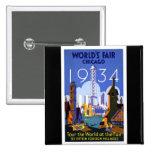 1934 Chicago World's Fair Buttons