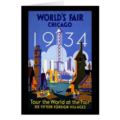 1934 Chicago World's Fair Card