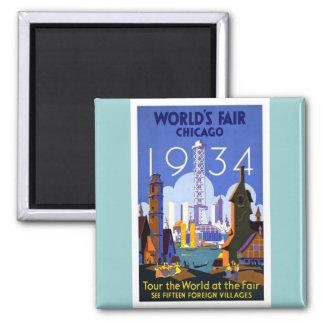 1934 Chicago World's Fair Magnets