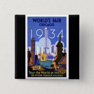 1934 Chicago World's Fair Pinback Button