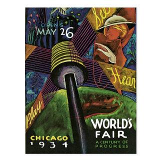 1934 Chicago World's Fair Vintage Postcard