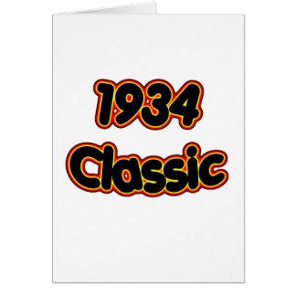 1934 Classic Card