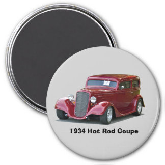1934 Customized Coupe Hot Rod Magnet