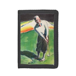 1934 golfing print trifold wallet