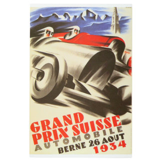 1934 Grand Prix Suisse Metal Art Sign