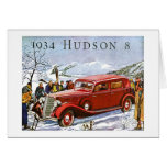 1934 Hudson 8 - Vintage Advertisement Greeting Cards