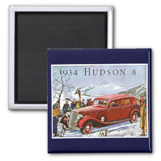 1934 Hudson 8 Vintage Advertisement Fridge Magnet