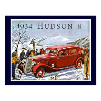 1934 Hudson 8 - Vintage Advertisement Post Cards