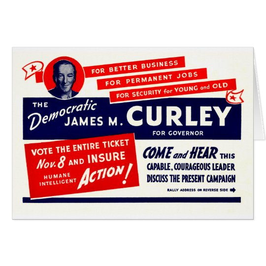1934 James Michael Curley Card