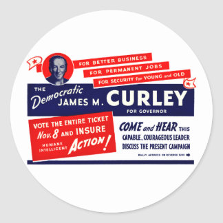 1934 James Michael Curley Stickers