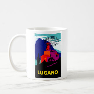 1934 Lugano Philatelic Poster Coffee Mug