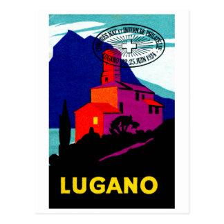 1934 Lugano Philatelic Poster Postcard