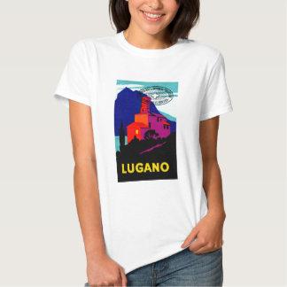 1934 Lugano Philatelic Poster Tee Shirt