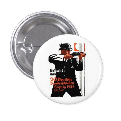 1934 Marksman Poster Pinback Buttons