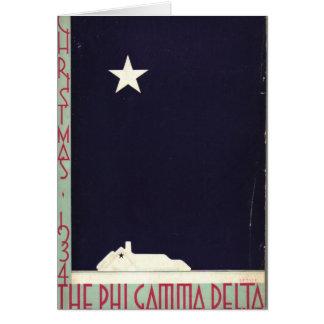1934 navidad Notecard Tarjeta Pequeña