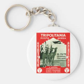 1934 Tripolitania 1 Lire stamp Keychain