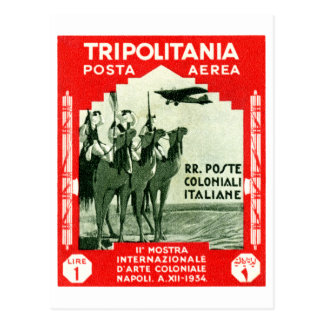 1934 Tripolitania 1 Lire stamp Postcard