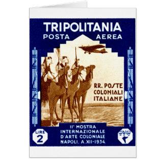 1934 Tripolitania 2 Lire stamp Card