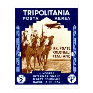 1934 Tripolitania 2 Lire stamp Postcard