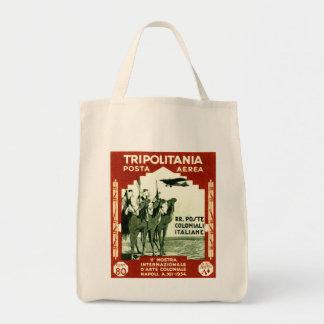 1934 Tripolitania 80 centesimi stamp Grocery Tote Bag