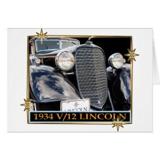 1934 V-12 LINCOLN CARD