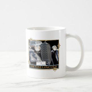 1934 V-12 LINCOLN CLASSIC WHITE COFFEE MUG