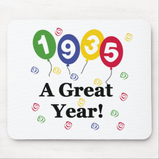 1935 A Great Year Birthday Mouse Pad