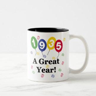 1935 A Great Year Birthday Two-Tone Coffee Mug