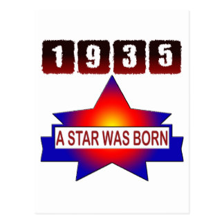 1935 A Star Was Born Postcard