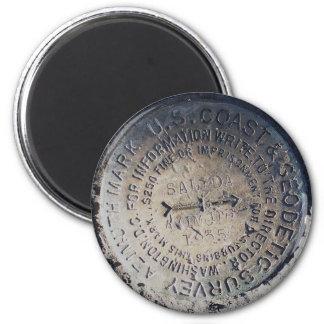 1935 Azimuth Survey Mark Magnets