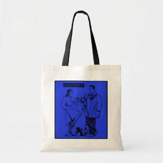 1935 Blue Chummy Canvas Bags