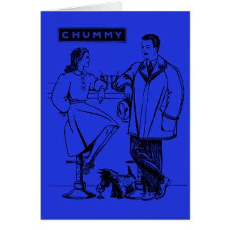 1935 Blue Chummy Greeting Cards