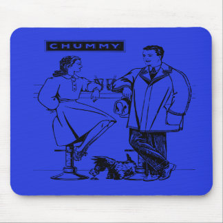 1935 Blue Chummy Mouse Pads