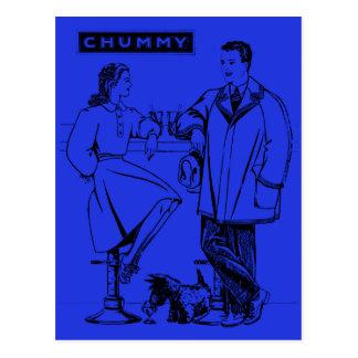 1935 Blue Chummy Postcard