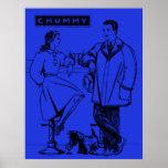 1935 Blue Chummy Print