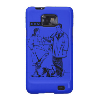 1935 Blue Chummy Samsung Galaxy S2 Covers