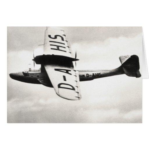 1935 Dorneir Seaplane Card